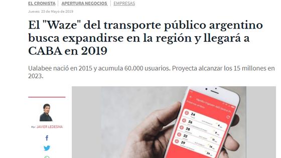 """El """"Waze"""" del transporte público argentino busca expandirse en la región y llegará a CABA en 2019"""