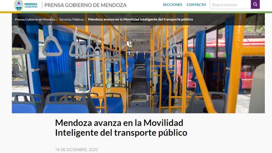 Mendoza avanza en la Movilidad Inteligente del transporte público